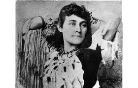 "Haudenosaunee writer, E. Pauline Johnson, of Mohawk and English descent considered ""Indian girl of modern fiction"" at the turn of the 19th century."